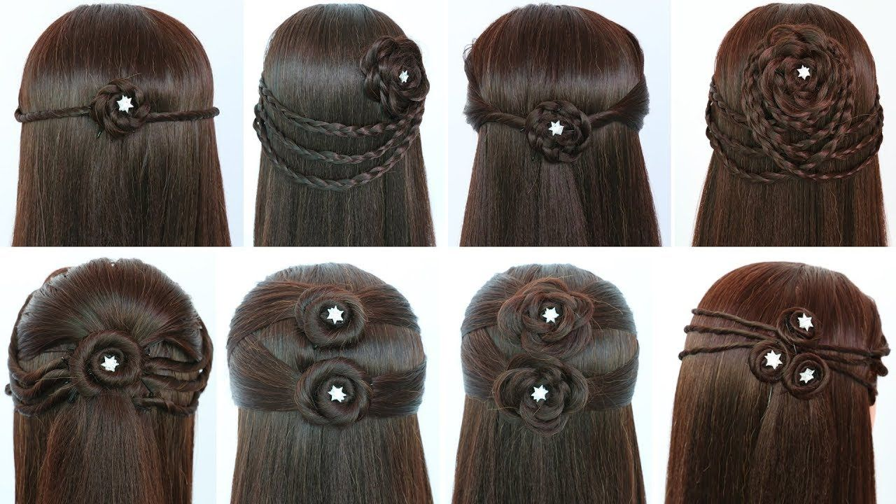 8 quick and easy hairstyles for open hair | hair styles