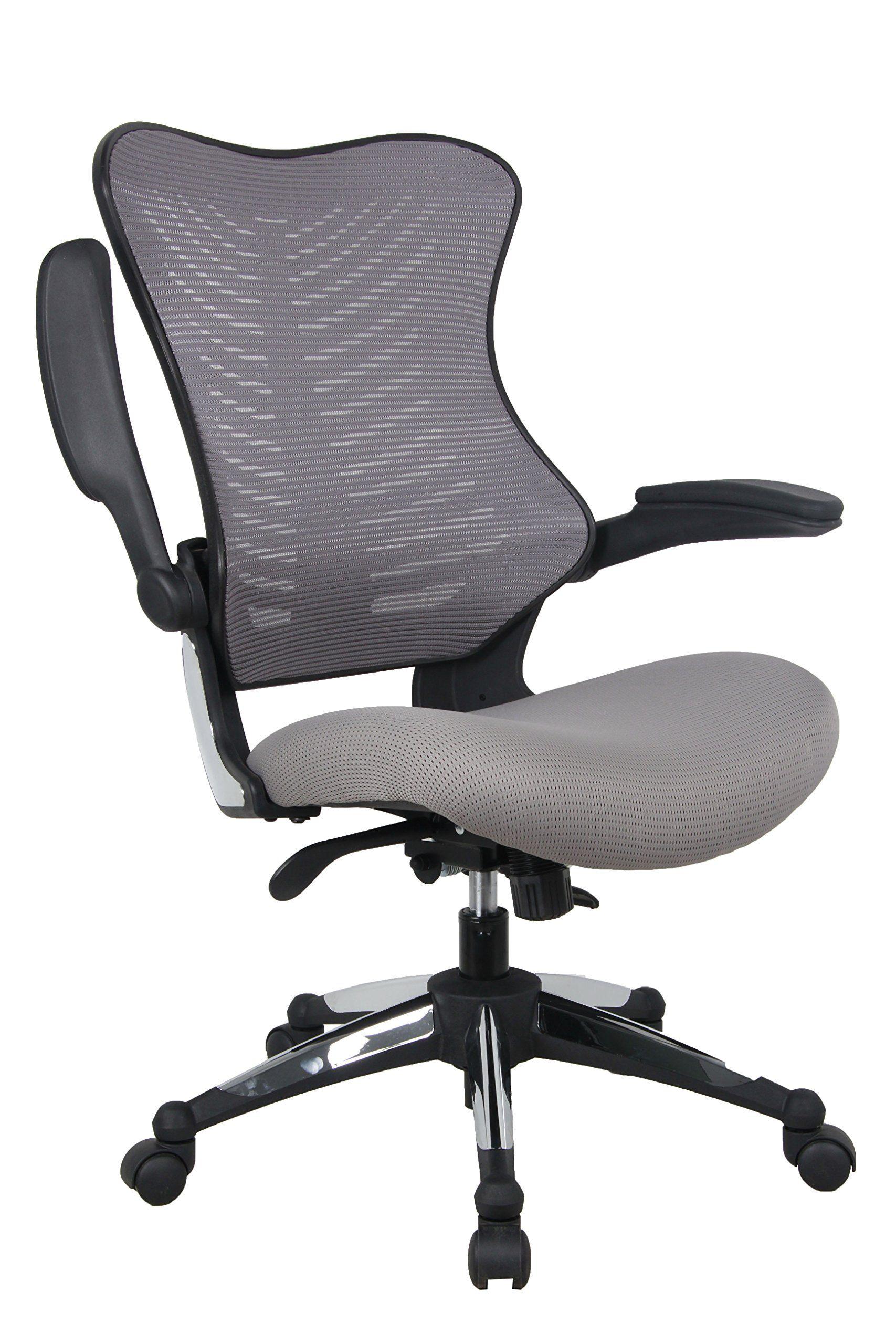Office Factor Gray Office Chair Ergonomic Lumbar Support