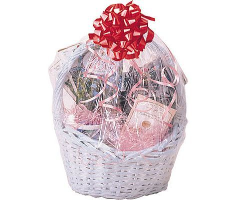 Clear cello shrink wrap basket bag gift bags and wrap clear cello shrink wrap basket bag gift bags and wrap housewarming gifts entertaining negle Image collections