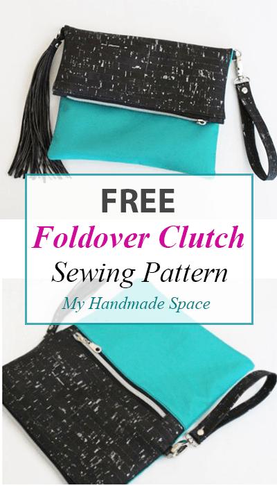Foldover Clutch FREE Pattern | Taschen nähen | Pinterest | Nähen ...