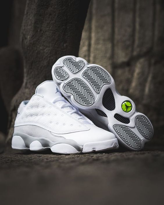 32eca276ec5 Air Jordan 13 Retro Pure Platinum White - Order on Amazon #airjordan  #michaeljordan #retro #shopping #fashion #sneakerhead #basketball #shopping  #shoes ...