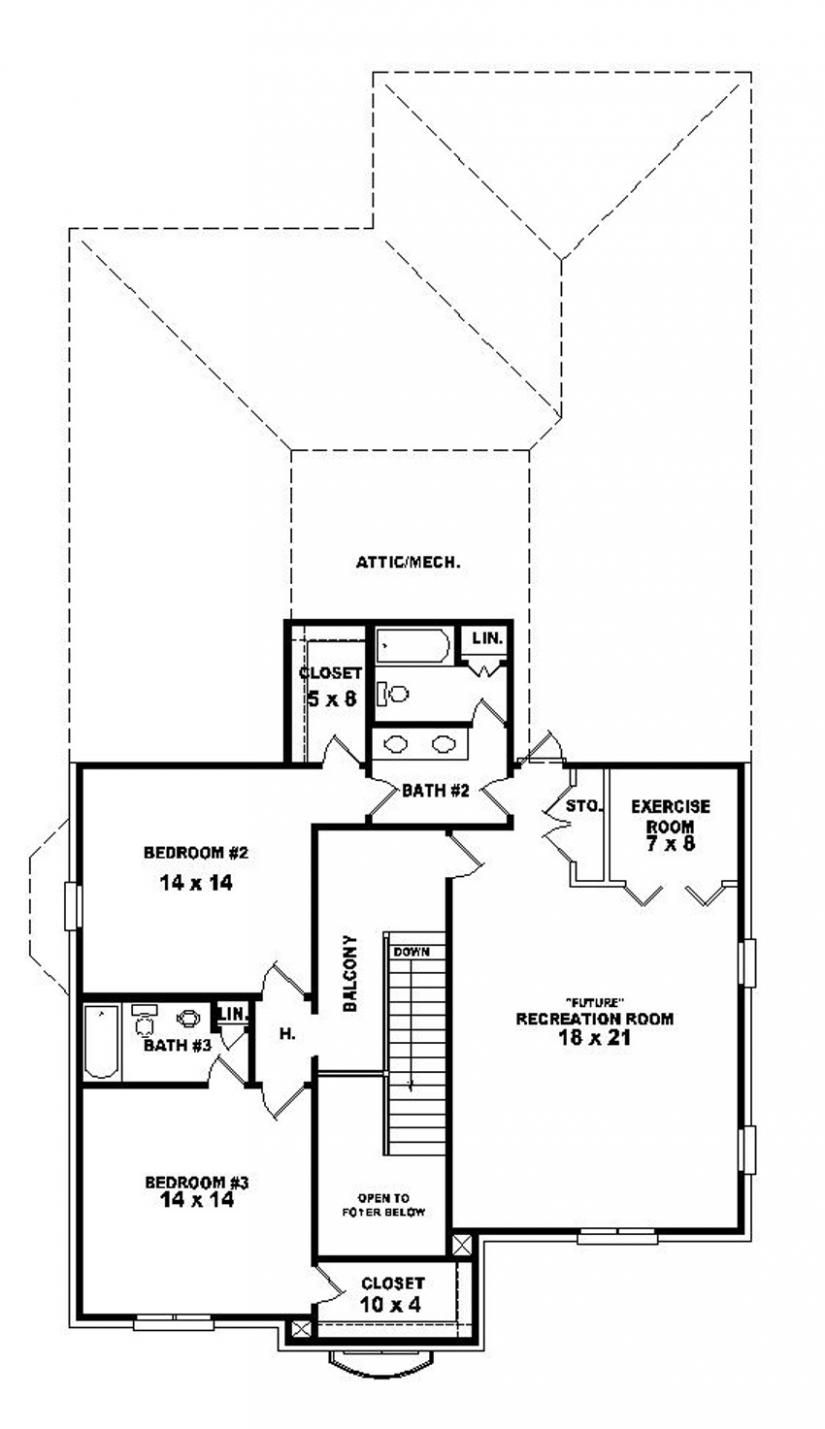 bedroom bath french country house plan house plans