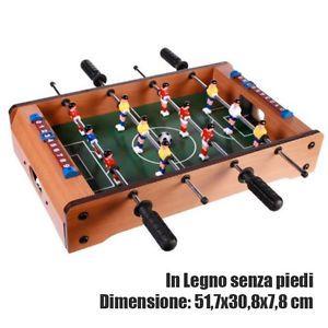 25 Calcetto Da Tavolo Struttura In Legno 51x30 Cm Gioco Calcio Balilla Con Pallina Calcio Balilla Calcio Legno