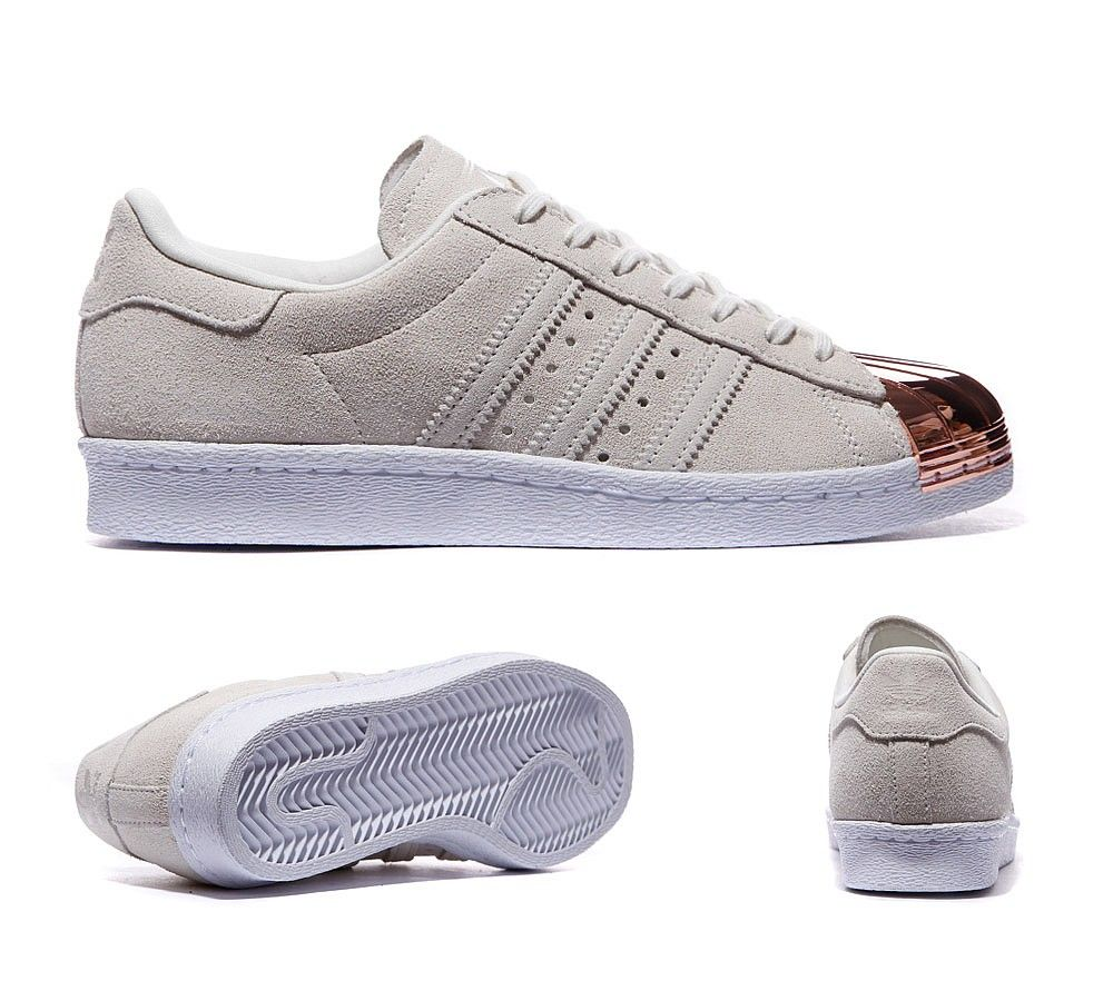 Adidas Originals Womens Superstar Metal Toe Off White Sneakers Discount  Store