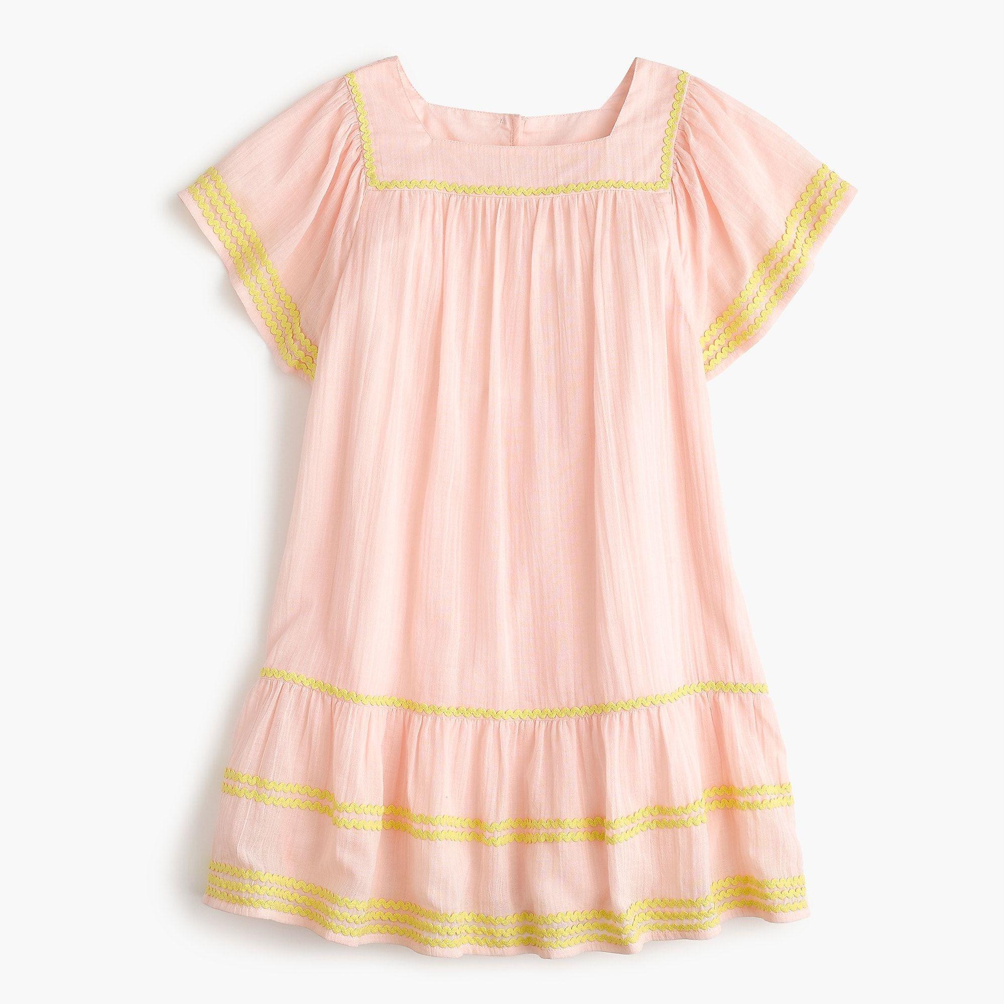 2c79de90d Girls' stretch denim white overall | Kindergarten | Dresses, Toddler ...