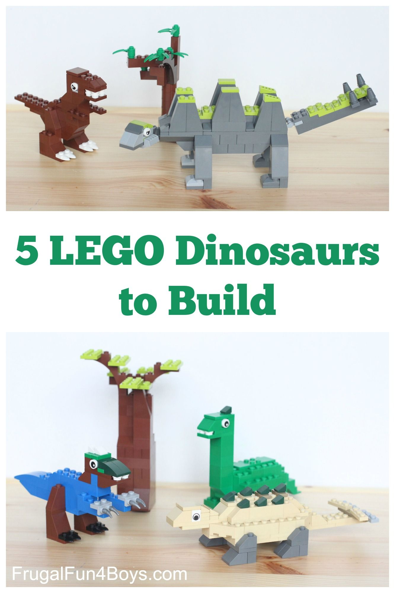Five Lego Dinosaurs To Build Parenting Pinterest Ninos