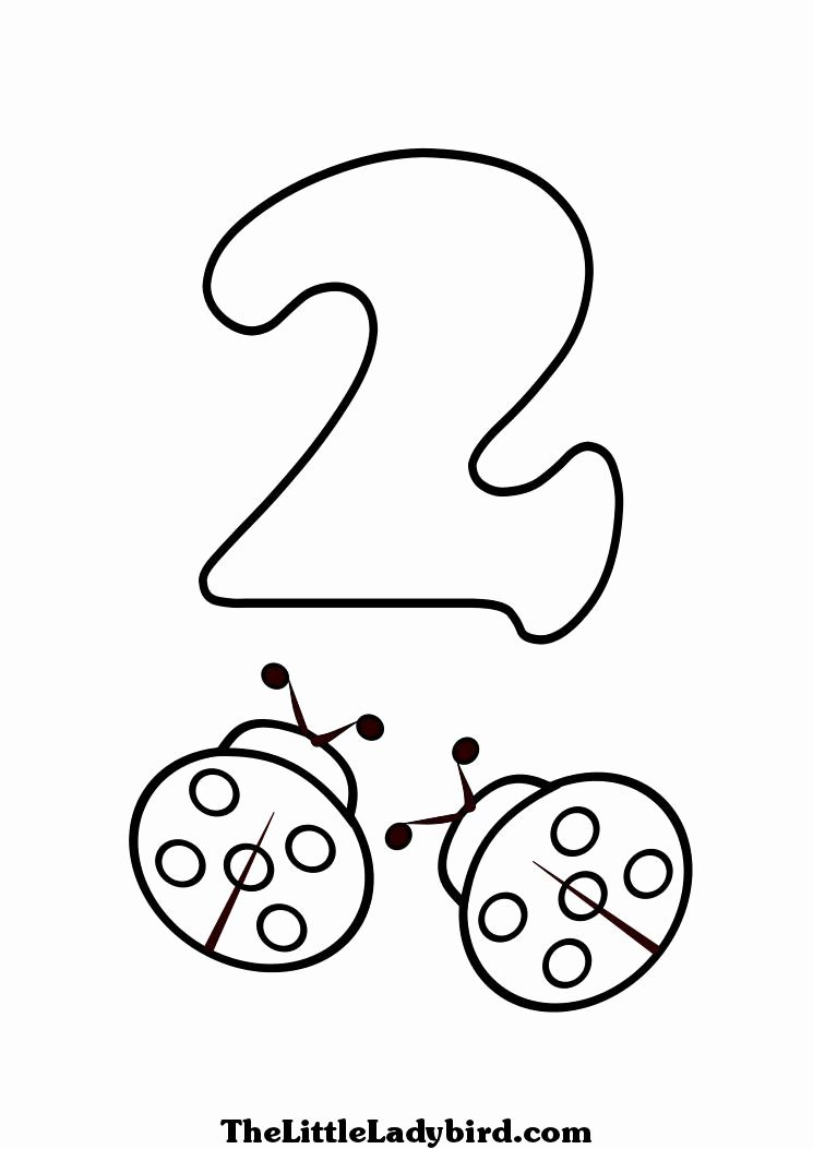 Number 2 Coloring Page Lovely Best S Of Number 2 Coloring Sheet Preschool Number In 2020 Ladybug Coloring Page Coloring Pages Snowman Coloring Pages