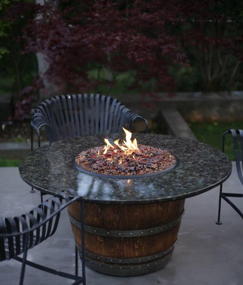 Wine barrel fire pit (table) 1380753_527527590674769_579359955_n Wine Barrel  Table Diy, Bourbon Barrel Table - 36 Creative DIY Ideas To Upcycle Old Wine Barrels Wine/Rain Barrel