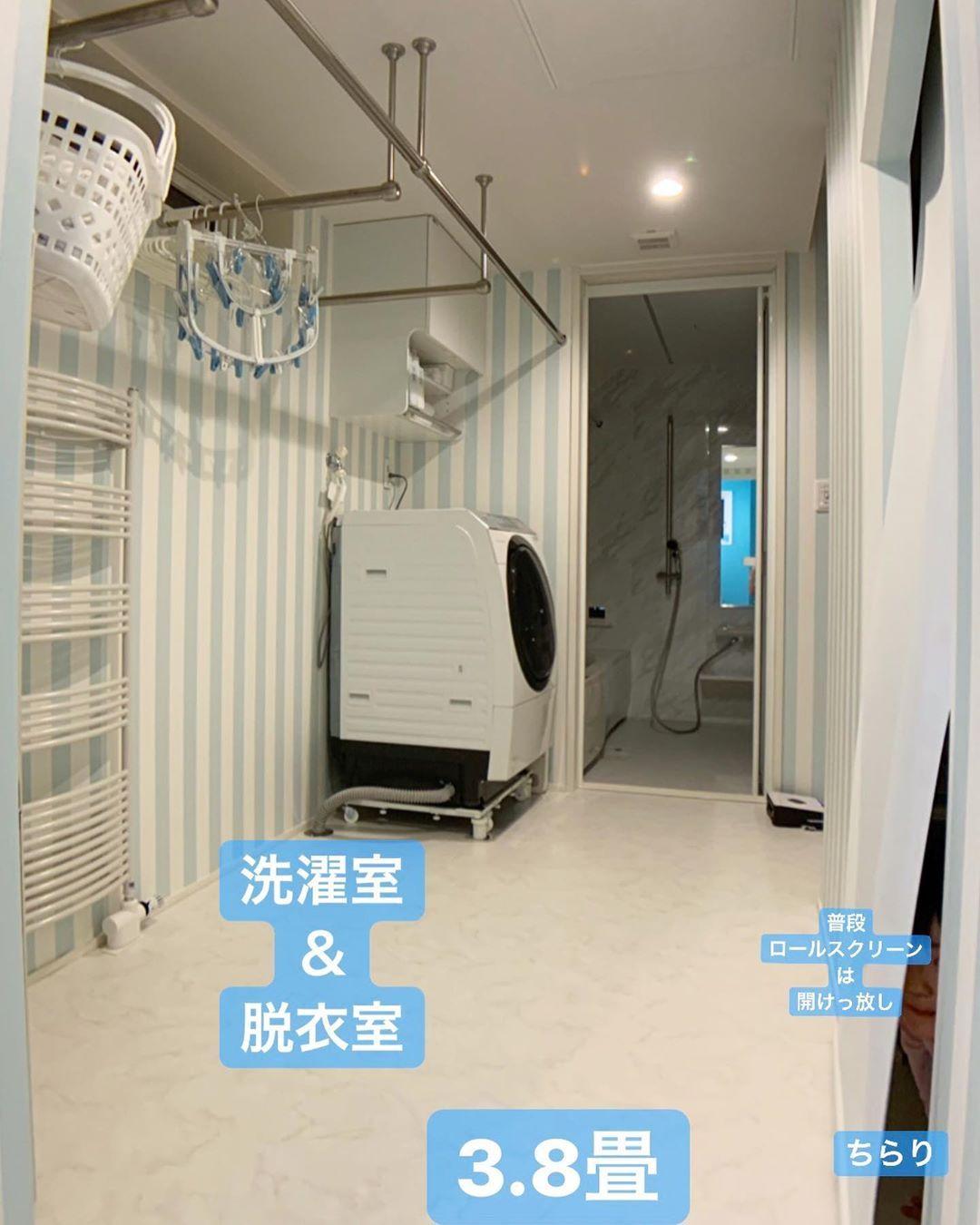 花子さんはinstagramを利用しています 2019 3 25 花子ハウスの ランドリールーム初公開 こんばんは 我が家の間取り大成功ランキング 上位の 洗濯室 脱衣室 ファミクロをご紹介します これまで住んでいた賃貸は 極狭狭 ランドリー