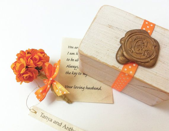 Thanksgiving Gift idea, Love box - romantic letter and an orange - romantic letter
