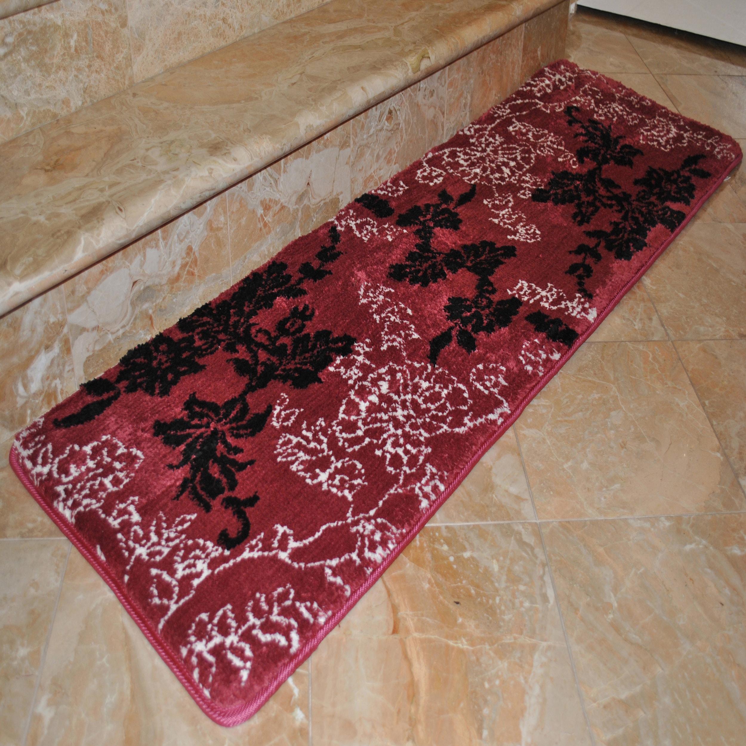 Fashion Street Floral Memory Foam 20 X 64 Bath Runner 1 8 X 5 4