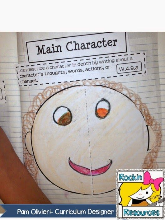 Free Writing Mini Lesson 19:  Developing the Main Character in Narrative Writing.  Mentor text included!  Designed by Rockin Resources