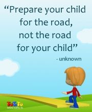 Image result for prepare the child for the road