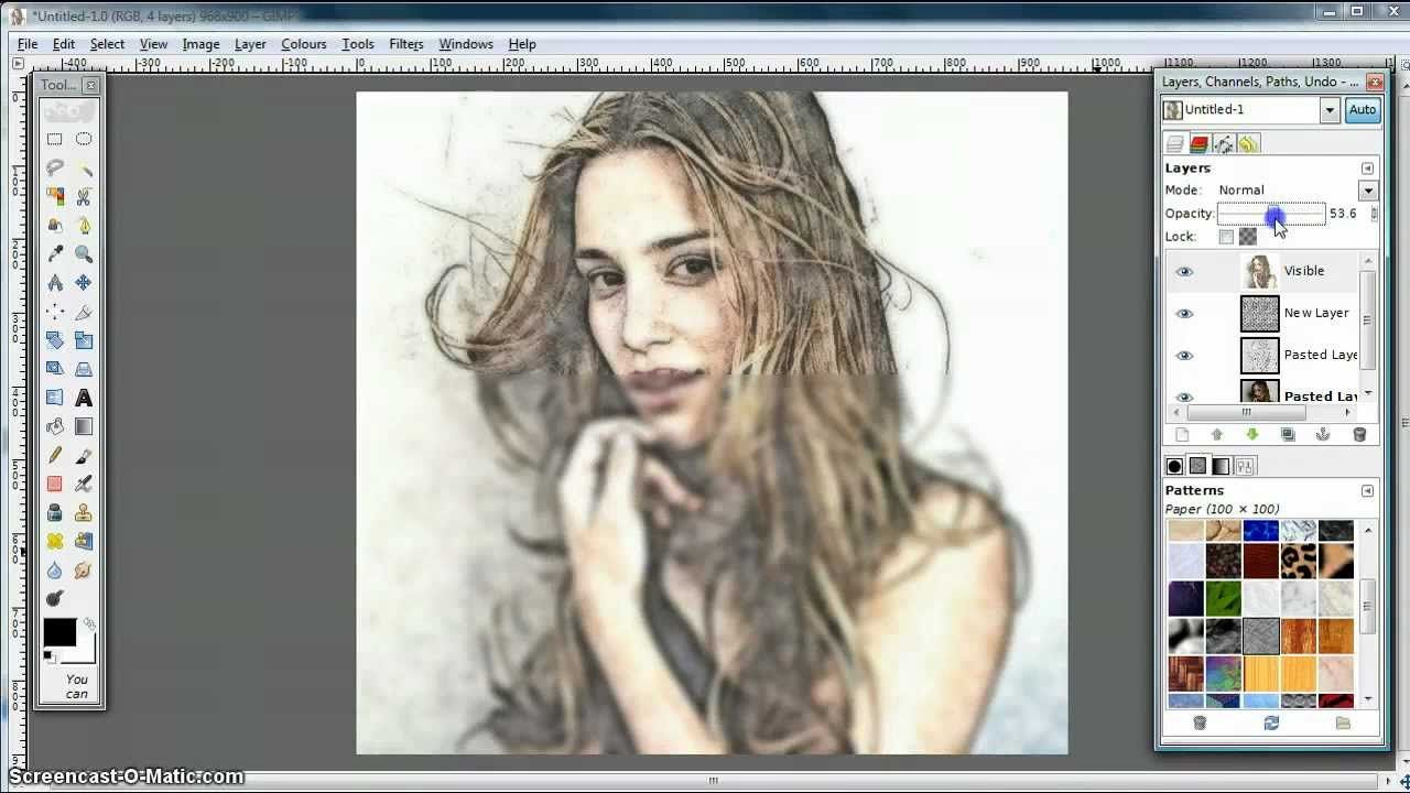 Gimp tutorial turn photo into soft colour pencil drawing