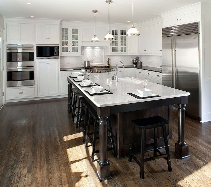 Kitchen Cabinets L Shaped: Mullet Cabinets: L-shaped Kitchen With White Ceiling