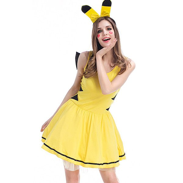 Yellow Pokemon Pikachu Cute Dress Costume ($33) ? liked on Polyvore featuring costumes tail costume pikachu costume pokemon pikachu costume ...  sc 1 st  Pinterest & Yellow Pokemon Pikachu Cute Dress Costume ($33) ? liked on Polyvore ...