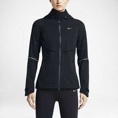 616248-010 New w tag Nike Women Storm-Fit Rain Runner Jacket BLACK. Running  WorkoutsRunning Rain GearWinter ...