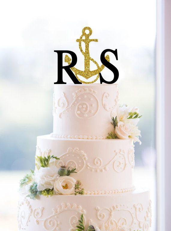 Monogram Wedding Cake ...W Monogram Wedding Cake Toppers