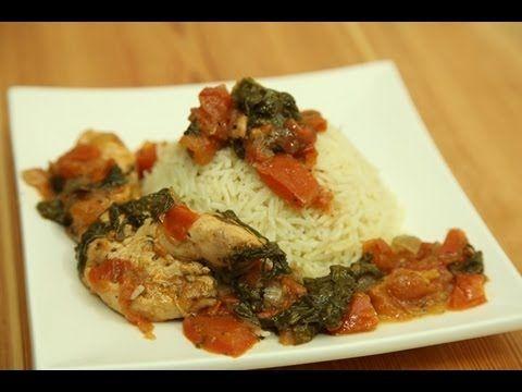 طريقة عمل تندرز الدجاج مع السبانخ والبندورة من زيتونة Chicken Lunch Recipes Cooking