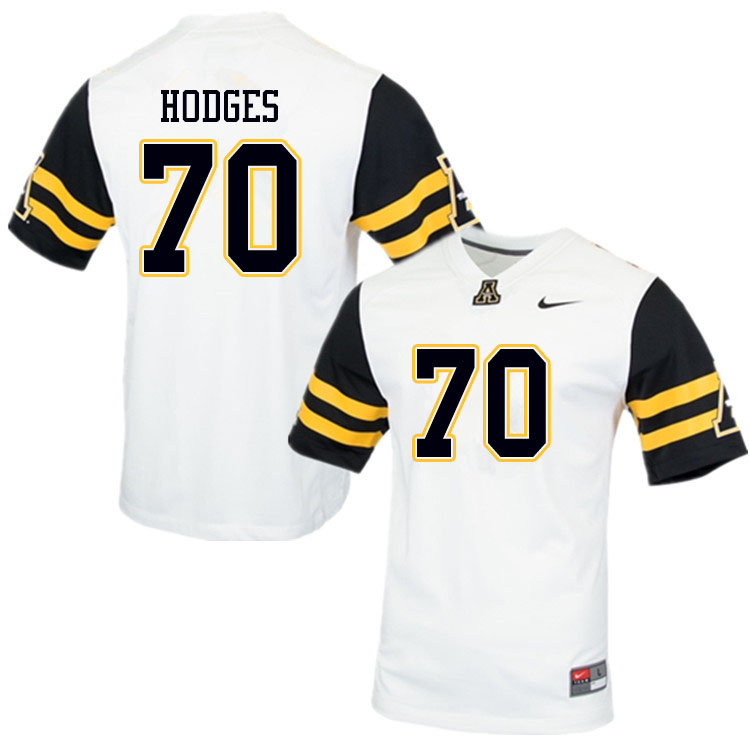 Men 70 Cooper Hodges Appalachian State Mountaineers College Football Jerseys Sale White Football Jerseys Jersey College Football