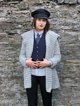 Tomboy styling gives a relaxed jacket a sharp edge. Knit this jacket with garter