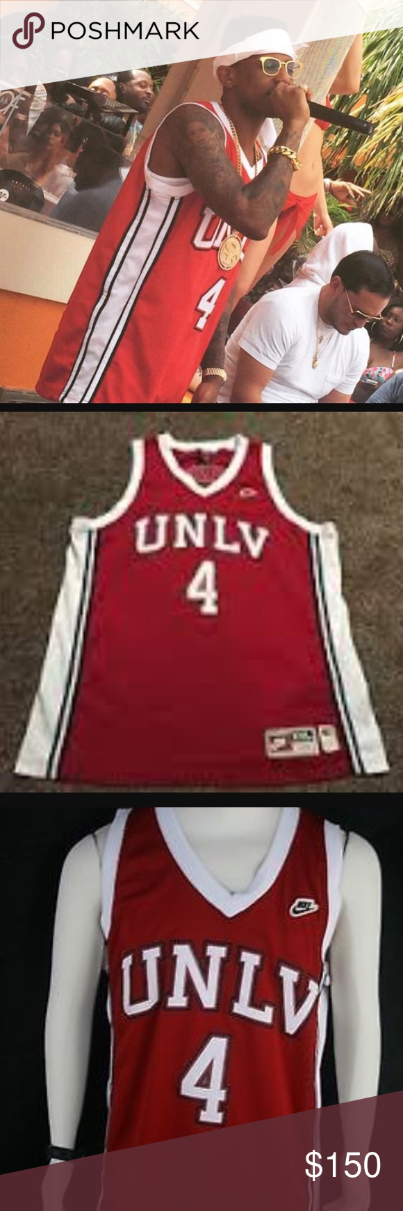 huge discount 65e7e 0c724 1990 Nike Throwback UNLV Larry Johnson Jersey #3 college ...