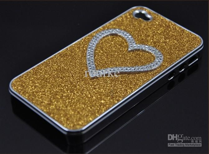 Customize Your Own Cell Phone Case Sparkling Heart Diamond Chrome ...