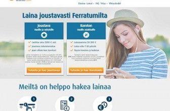 Ferratum lainaa joustavasti ilman kuluja 50-2000€. Lue kuinka ja kokemuksia: http://www.kulutusluottoa.org/ferratum-luottotili-ja-pikalaina/