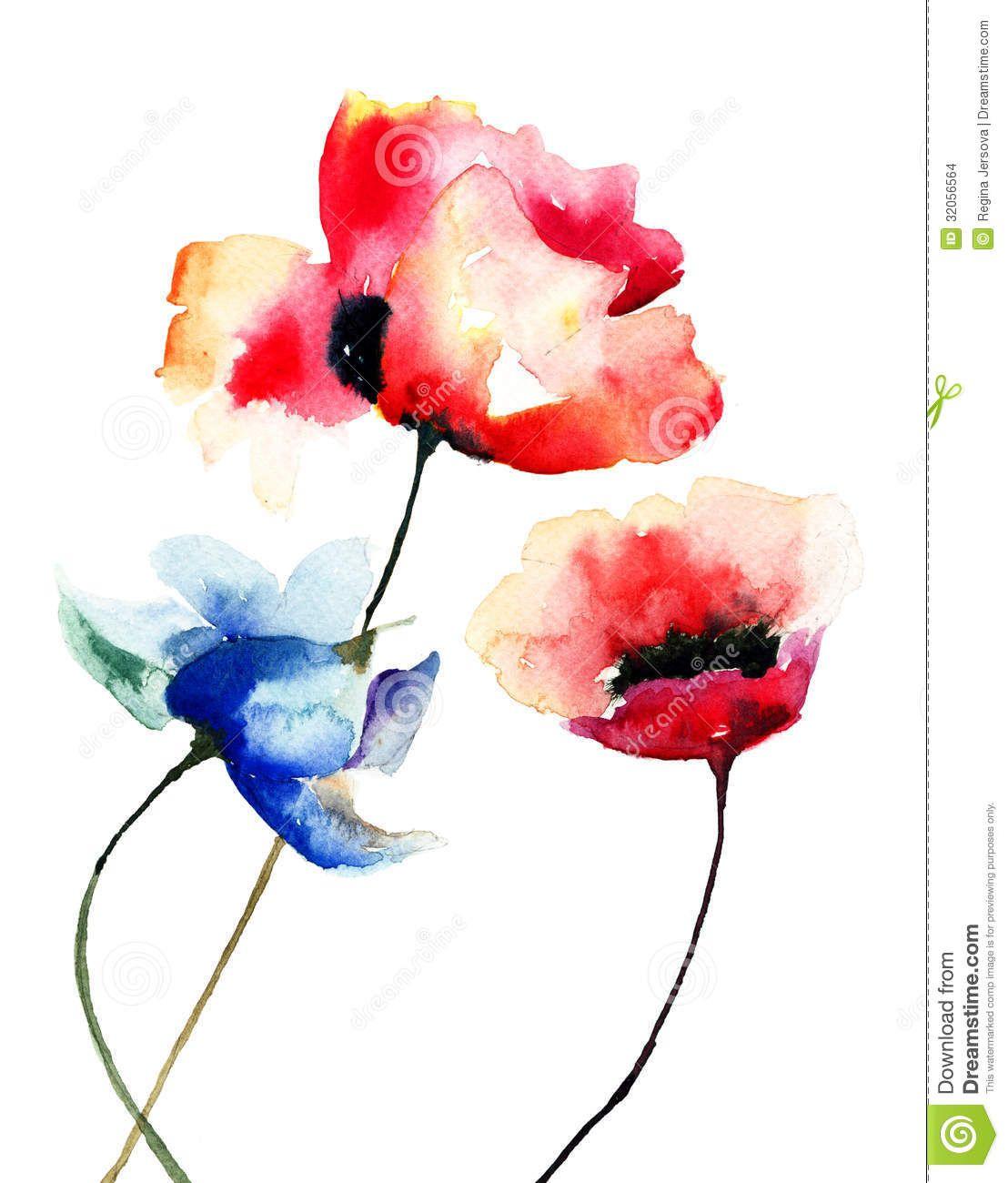 Pics For Poppy Flower Watercolor Tattoo Tattoos Pinterest