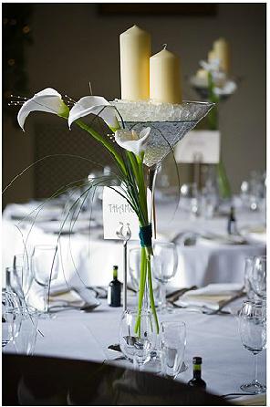 Calla lilies for centrepiece
