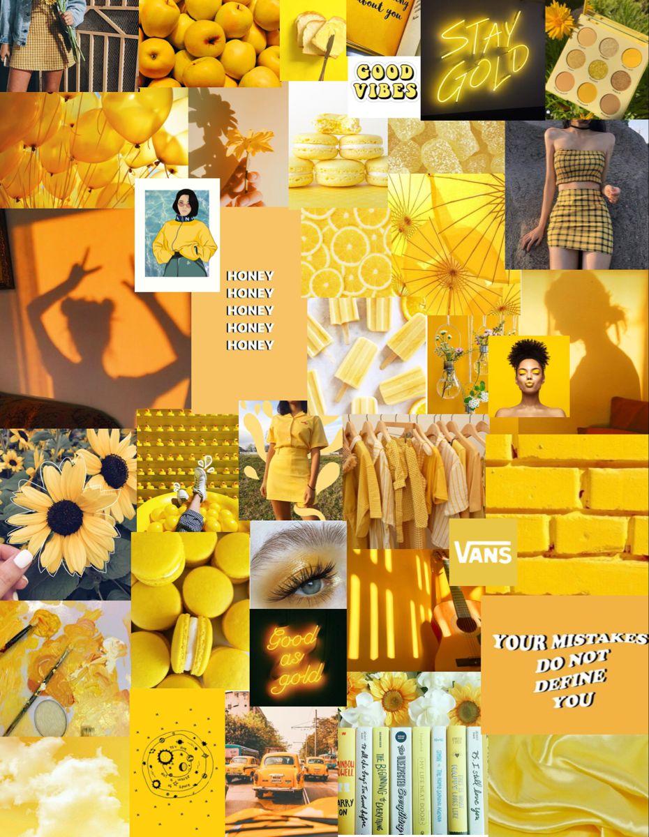 Yellow Aesthetic Wallpaper Collage Yellow Collage Iphone Wallpaper Yellow Collage Wallpapers Aesthetic wallpaper collage yellow