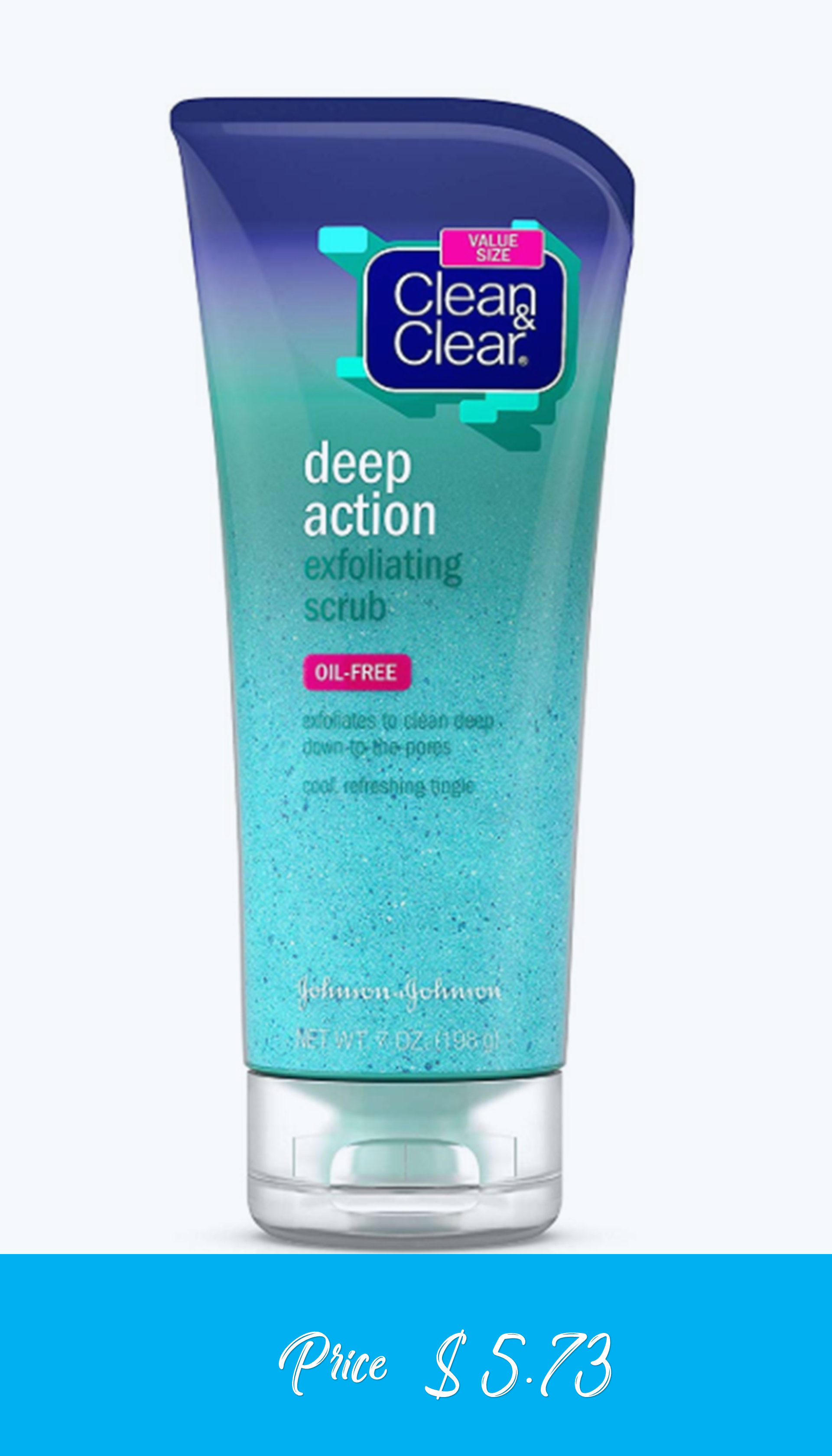 Clean Clear Oil Free Deep Action Exfoliating Facial Scrub