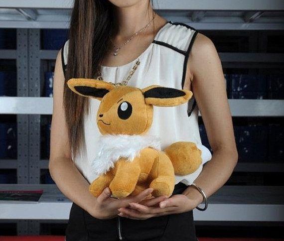 Eevee Pokemon Plush Toy Large Stuffed Doll Anime By