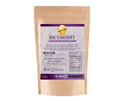 Supthong Long Grain Brown Riceberry Rice 176 Oz *** Continue to the product at the image link.Note:It is affiliate link to Amazon.