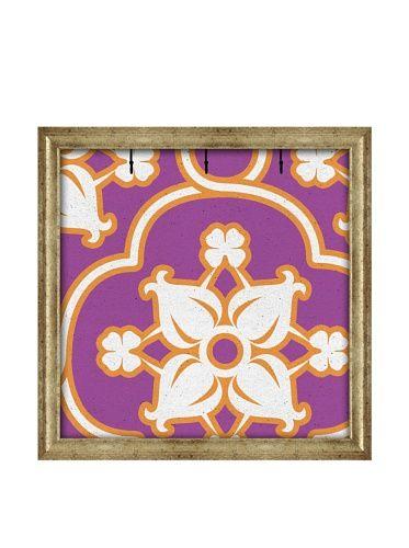 PTM Images Canvas Key/Jewelry Organizer with Foam-Core Backing, Purple/Orange
