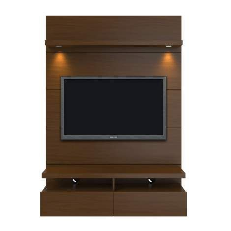 Hosting the Super Bowl? Enjoying a quiet intimate evening at home? Your TV has never looked better mounted on the Cabrini Theater Panel. The Cabrini Theater Panel 1.2 follows the same basic design as the Cabrini Theater Panel 2.2 and 1.8, albeit in a more compact size.  Simply attach it to the panel using the built-in TV mount, lie back, relax and enjoy the view. The 2 cubbyholes and 2 full extension drawers allows you access to store DVD's, TV remote, magazines, and other objects for eas...