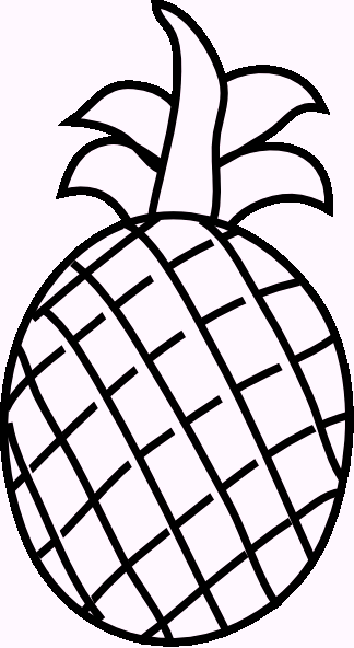 pineapple coloring pages | Fruits and Their name Coloring Pages ...