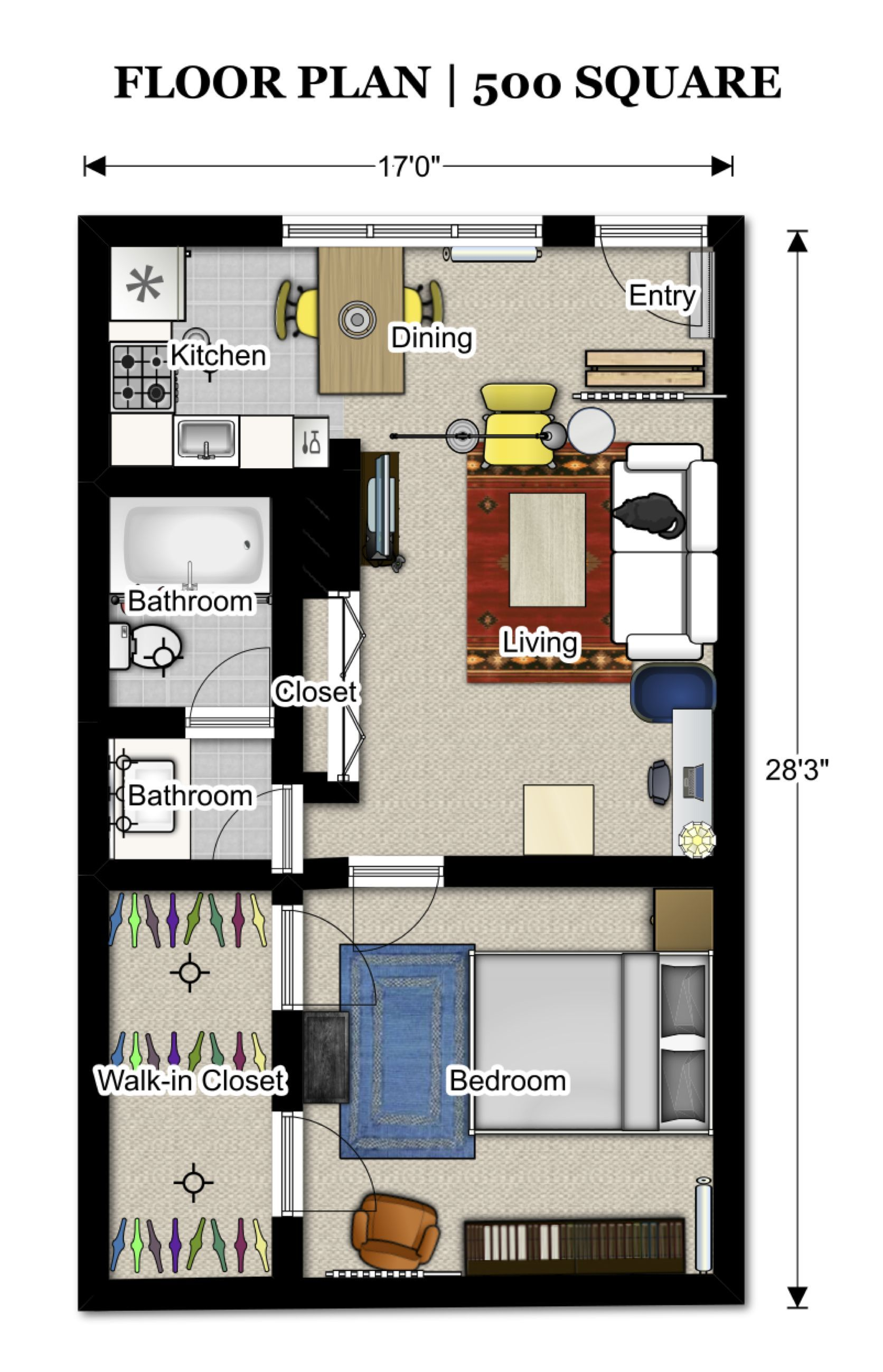 Best Of 500 Square Foot Apartment Floor Plans And Description In 2020 Small House Floor Plans Studio Apartment Floor Plans Apartment Floor Plans