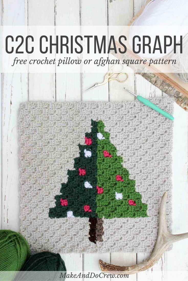 Corner to Corner Crochet Christmas Tree - Free Pattern | Cobija ...