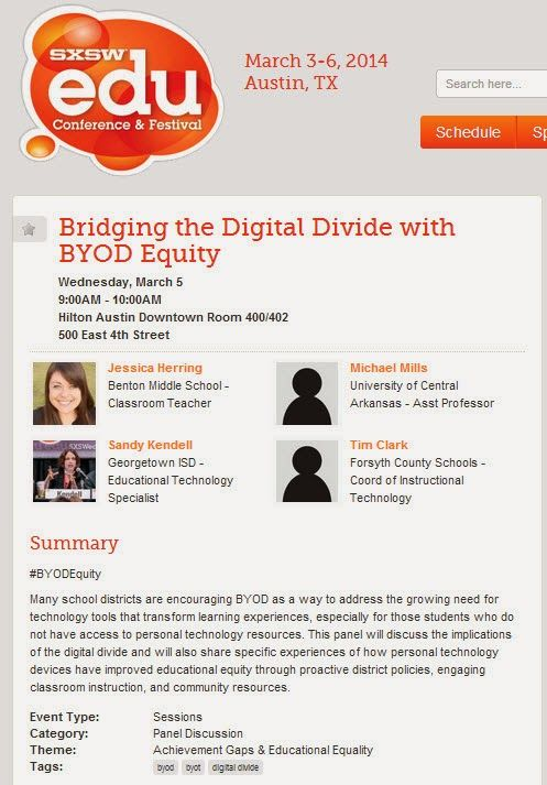 EdTechSandyK: BYOD Equity Panel at #SXSWedu 2014