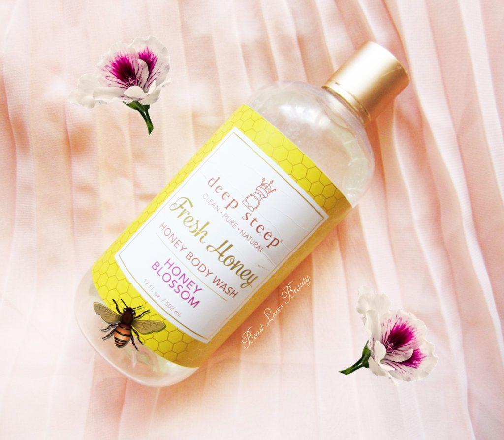 deep steep fresh honey shower gel honey blossom