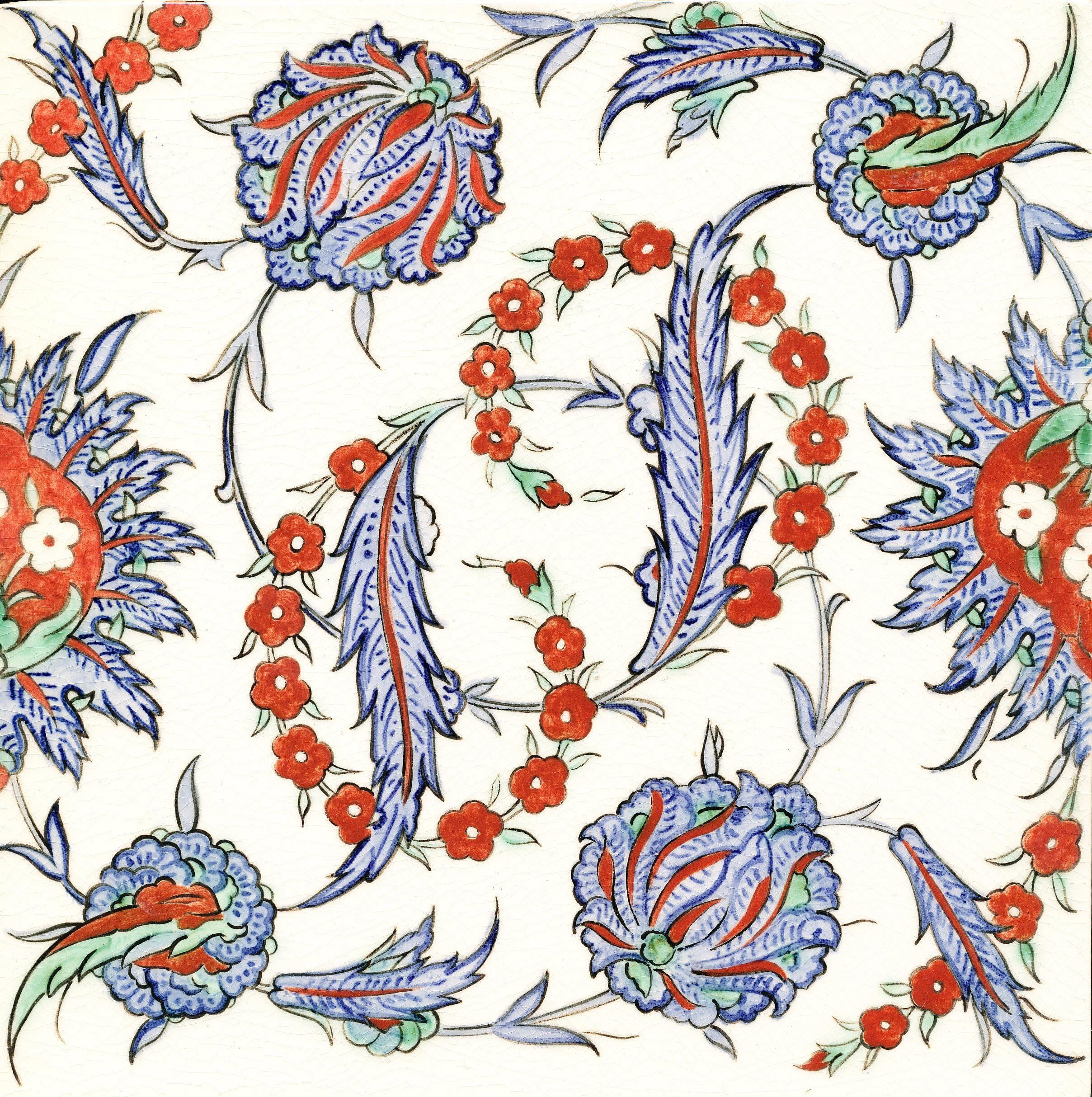 Nicholas Riley Iznik Tile Price: £80.00 | Iznik Ceramic Tiles and ...
