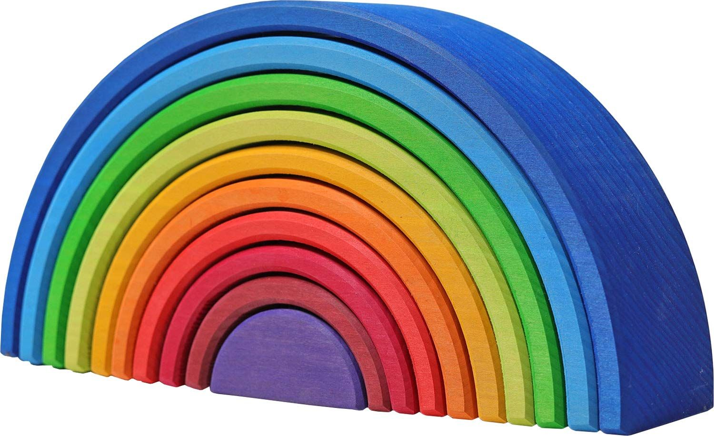 Grimms Spiel und Holz Design Regenbogen 10 teilig invertiert