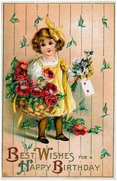 Victorian Birthday Cards Birthday Postcards Vintage Birthday Happy Birthday Girls