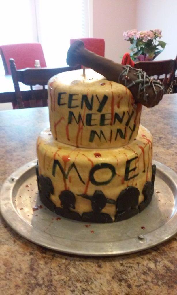 Phenomenal The Walking Dead Birthday Cake With Images Walking Dead Cake Funny Birthday Cards Online Alyptdamsfinfo
