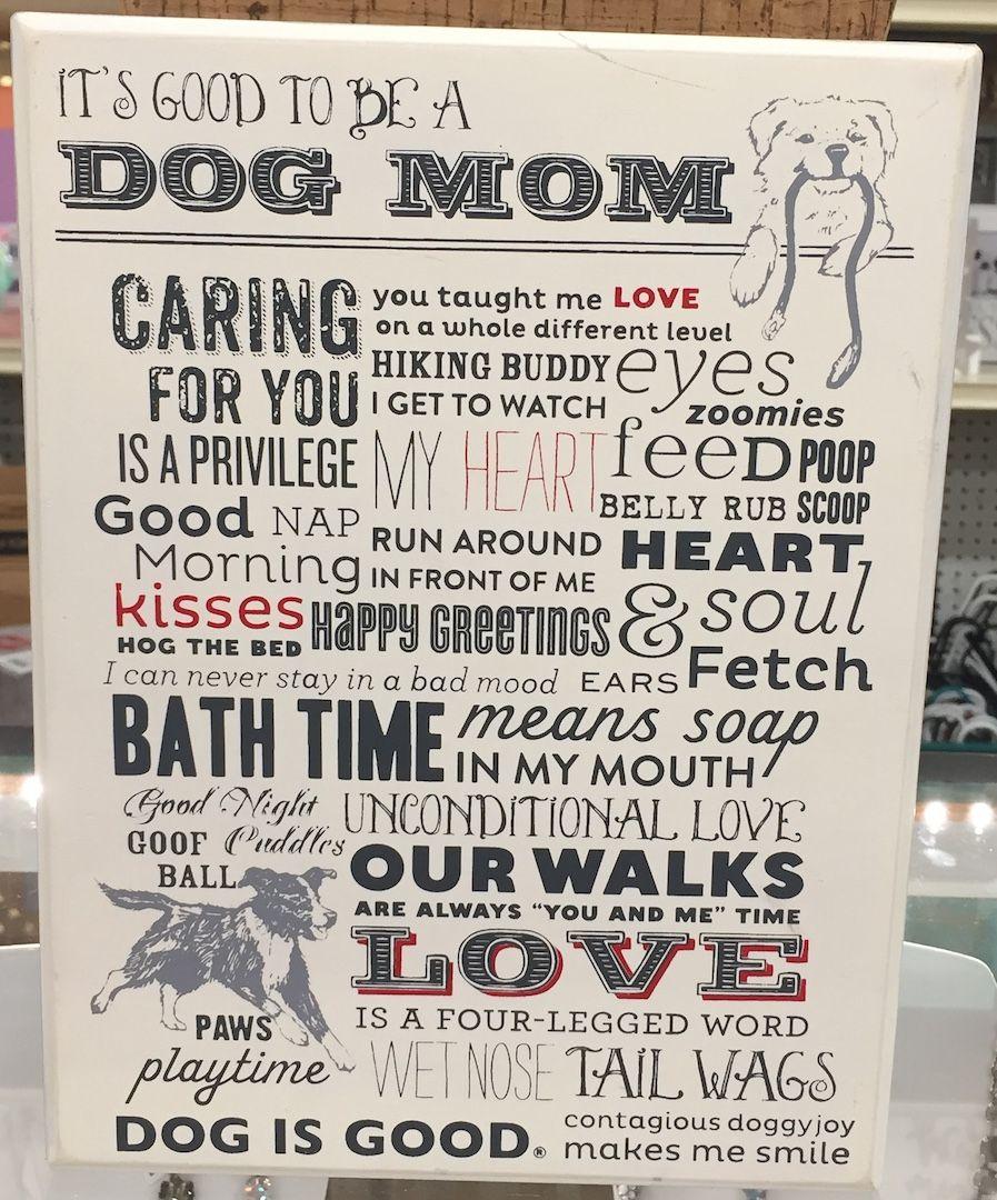 Dog mom big block art mom box dog mom mom care