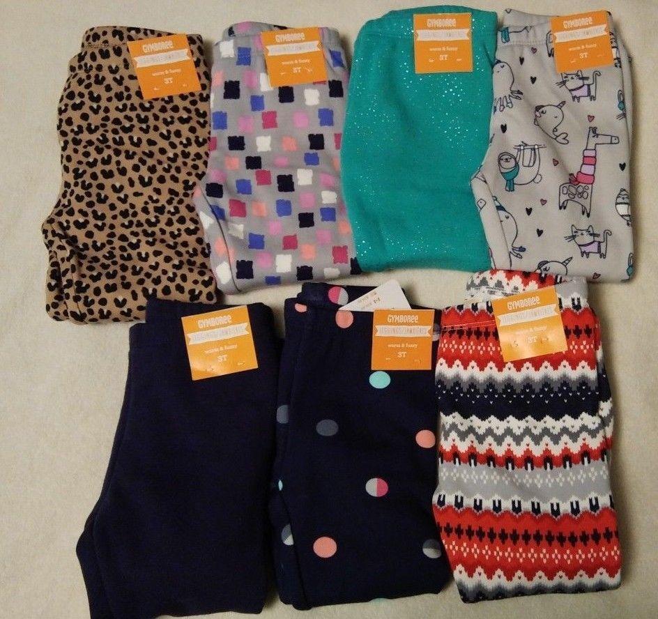 1150415e907e4 Gymboree 7-pair Warm & Fuzzy Leggings Girls Size 3T Lot NWT #fashion ...