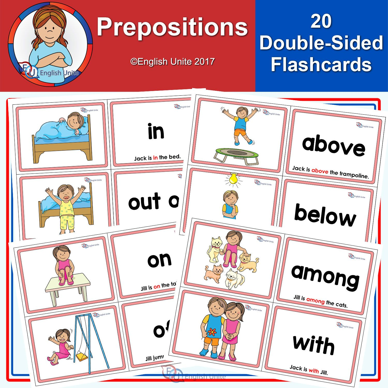 Flashcards Prepositions English Unite Flashcards Prepositions School Age Activities [ 1500 x 1500 Pixel ]