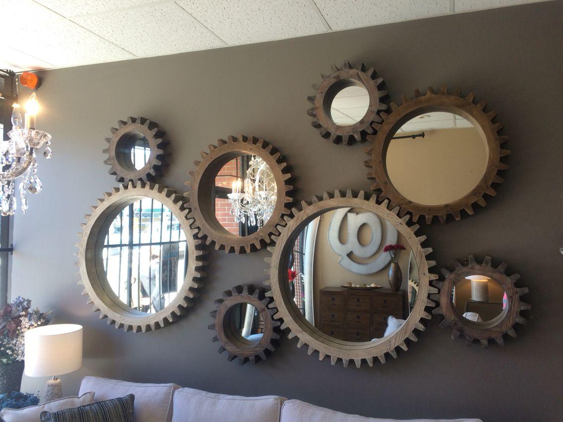 Cog Mirrors In Tora Home Design Steampunk Home Decor Framed Mirror Design Steampunk House