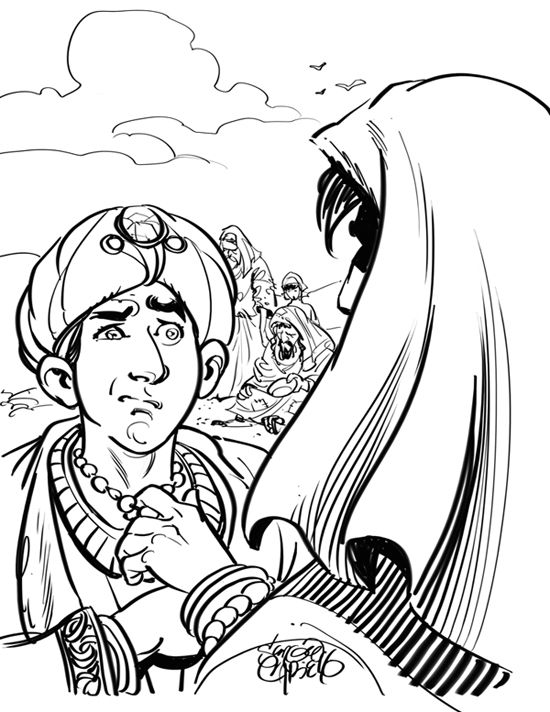 The Rich Young Man Coloring Page